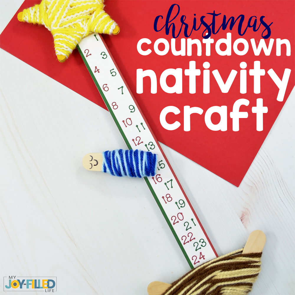 Christmas Countdown Nativity Craft
